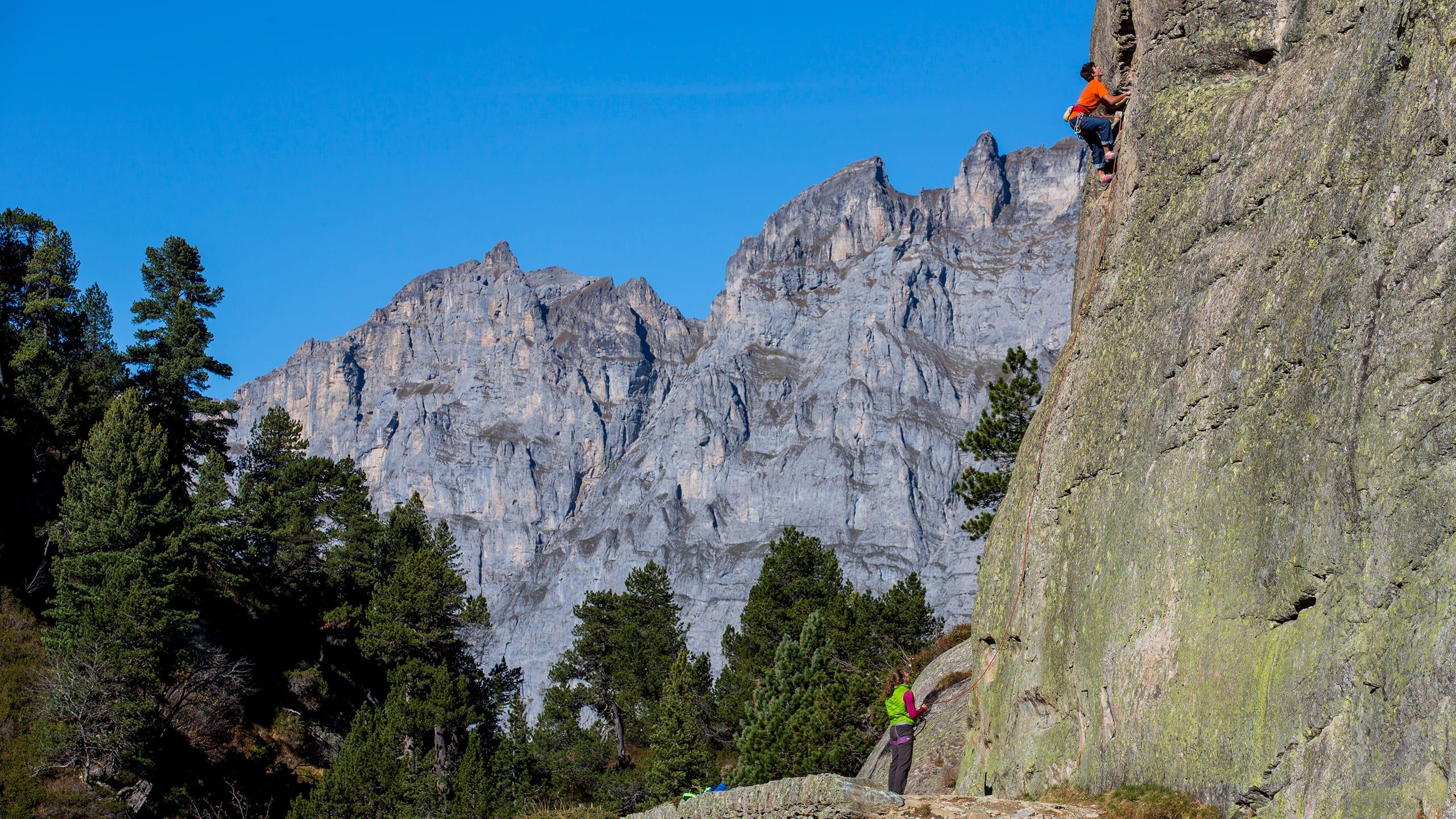 Aktive Erholung in den Gadmen Dolomiten.