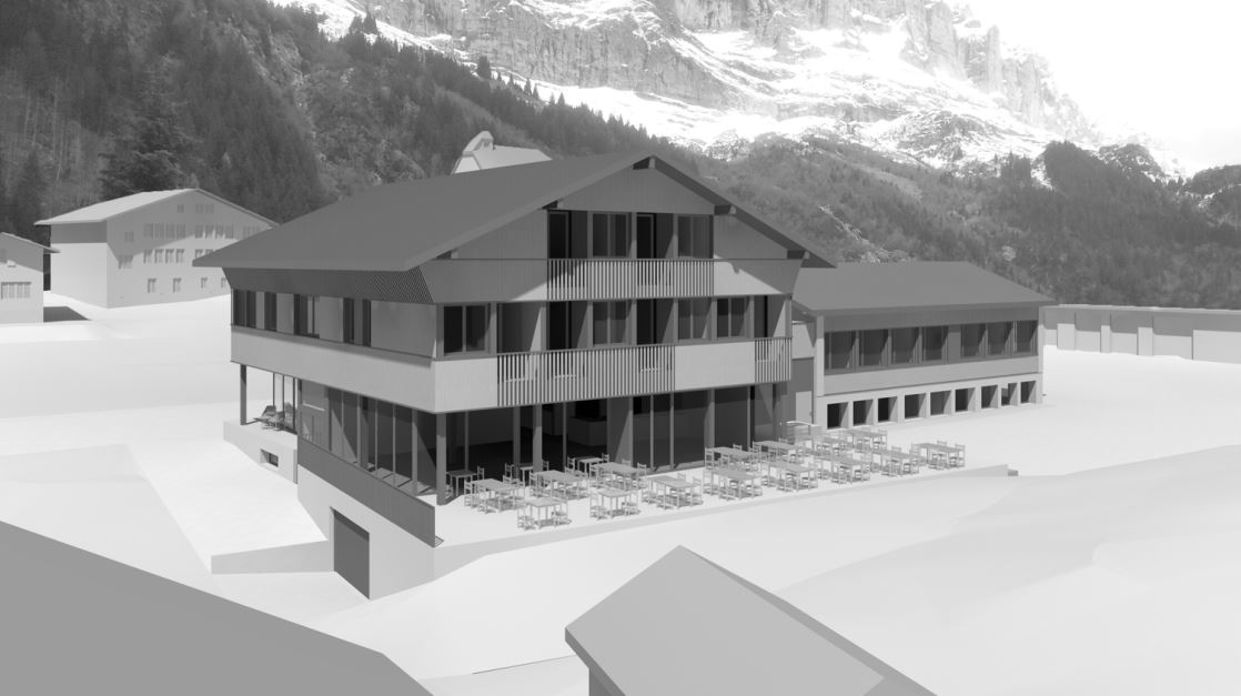 Auf dem Areal der Schule und Mehrzweckhalle Gadmen soll die Alpine Lodge Gadmen entstehen.
